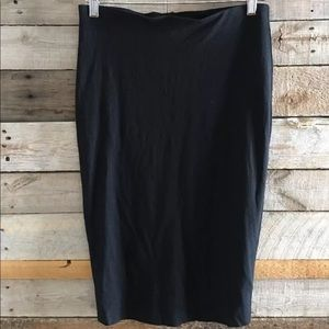 Vince Camuto jersey tube pencil skirt black large